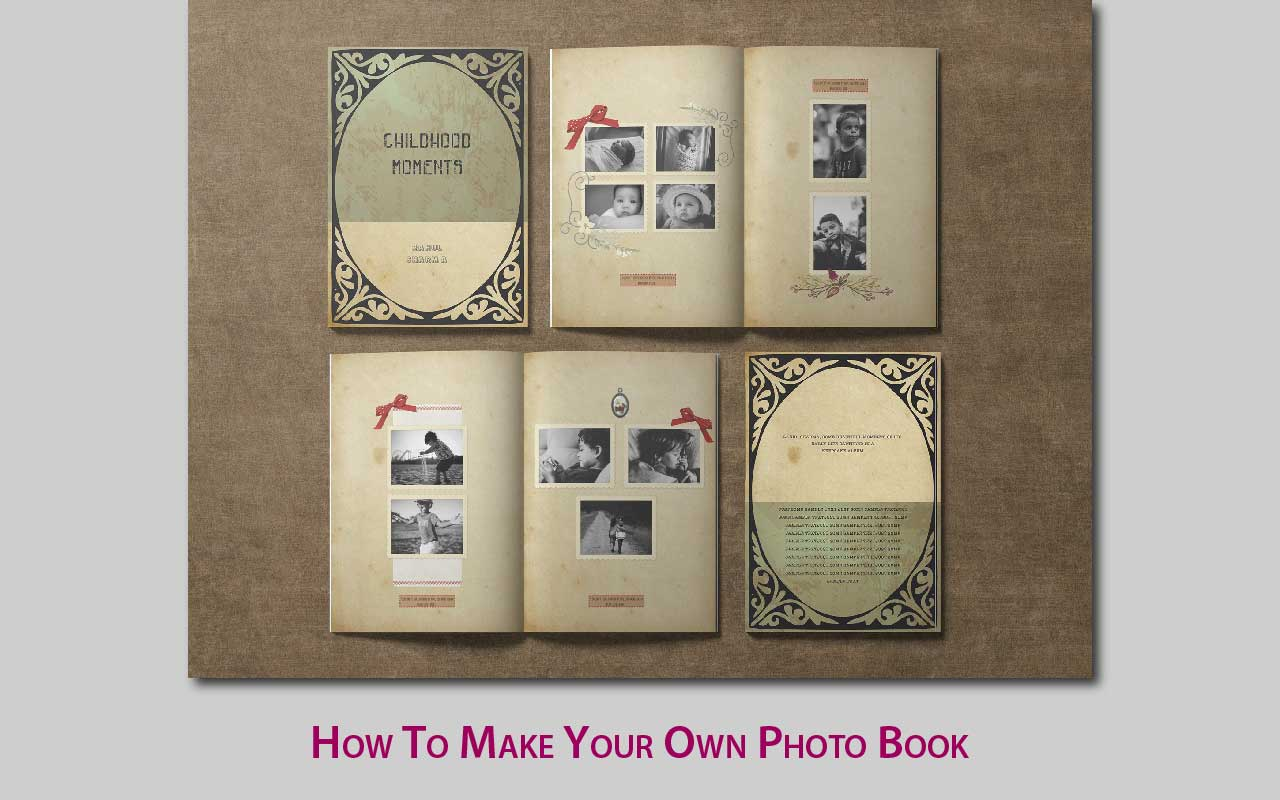 How to make your own Photo Book at home using an online commercial service or your computer. You just need photos and text and it's easy to make photo books.