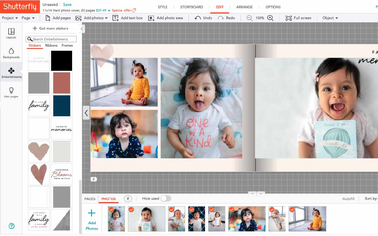 Shutterfly makes it easy to design your own photobook online